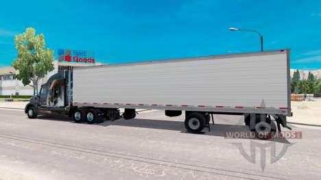 Biaxial refrigerated semi-trailer for American Truck Simulator