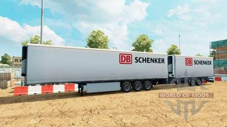 Semi-trailers Krone Gigaliner [DB Schenker] for Euro Truck Simulator 2
