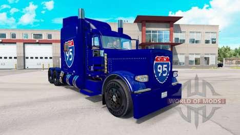 Skin Interstate 95 Peterbilt 389 truck for American Truck Simulator