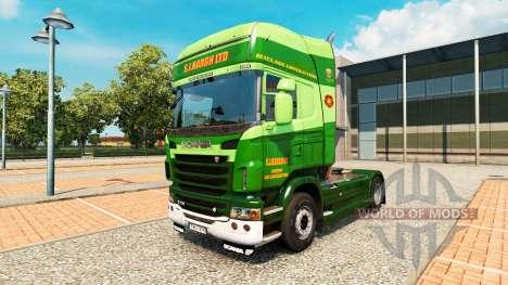 The S. J. Bargh skin for Scania truck for Euro Truck Simulator 2