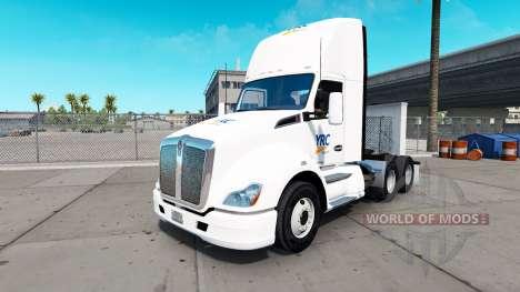 Skin YRC Freight on tractor Kenworth for American Truck Simulator