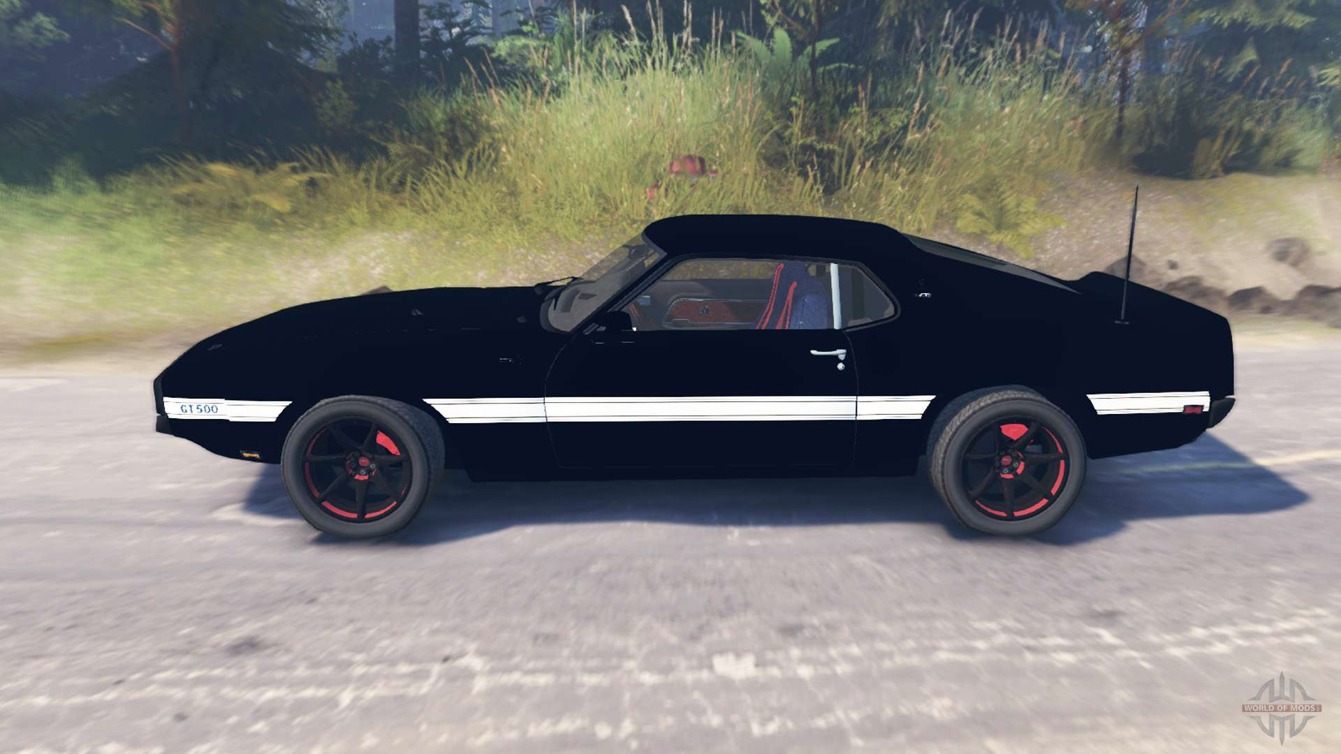 Ford Mustang Shelby Gt500 1969 For Spin Tires Hatchback