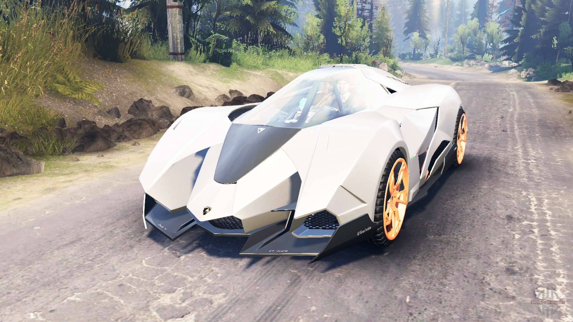 Lamborghini Egoista For Spin Tires