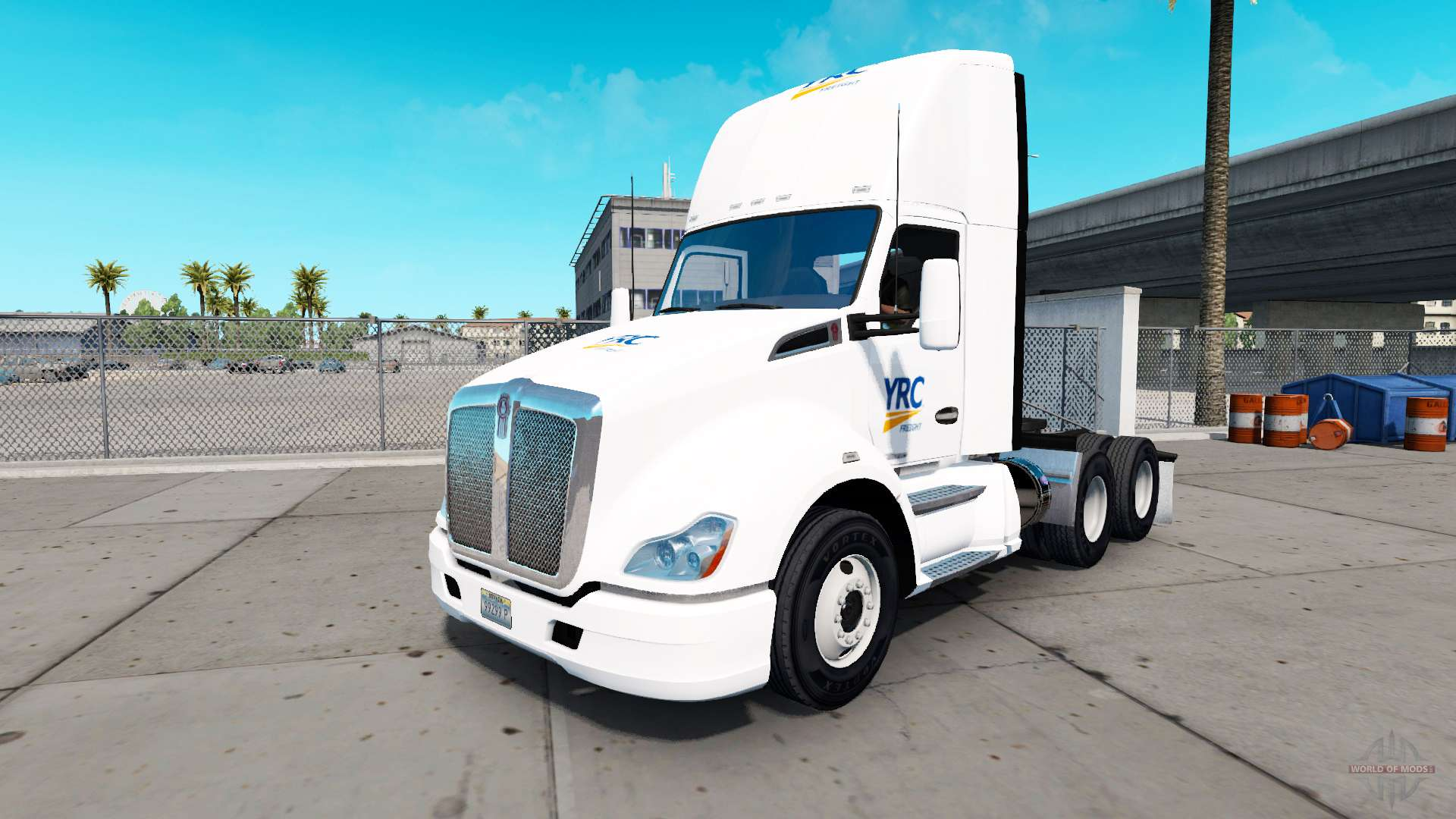 Skin YRC Freight on tractor Kenworth for American Truck Simulator