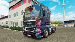 The Fractal Flame skin for MAN truck for Euro Truck Simulator 2