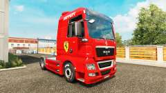 Skin Ferrari on tractor MAN for Euro Truck Simulator 2