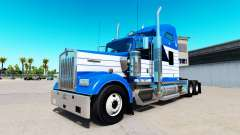 Skin Blanch Transport on truck Kenworth W900