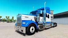 Skin Blanch Transport on truck Kenworth W900
