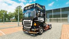 Skin Scania Black for tractor Scania