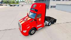 The skin San Francisco 49ers on tractors and Pet