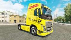 DHL skin for Volvo truck for Euro Truck Simulator 2