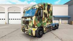 The skin Army on the truck Freightliner Argosy