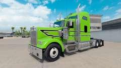 Skin Black-white stripes on the truck Kenworth W