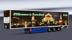 Skins on refrigerated semi-trailer