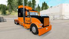 The Black and Orange skin for the truck Peterbil