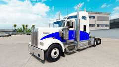 Blue Wave skin for the Kenworth W900 tractor