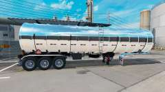Chrome fuel semi-trailer