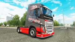 Grey Red skin for Volvo truck