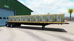 The semitrailer-platform with different loads.
