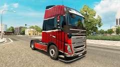 Skin Piel Rojo Negro at Volvo trucks