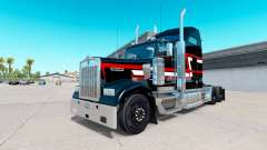 Skin Red-white stripes on the truck Kenworth W90