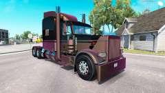 4 Metallic skin for the truck Peterbilt 389
