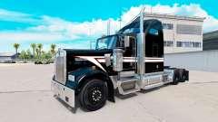 Skin Black and White on the truck Kenworth W900