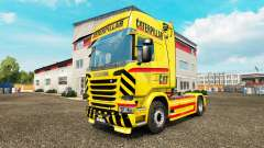 CAT skin for truck Scania for Euro Truck Simulator 2