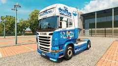 Smurfs skin for Scania truck for Euro Truck Simulator 2