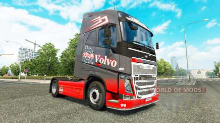 Grey Red skin for Volvo truck for Euro Truck Simulator 2