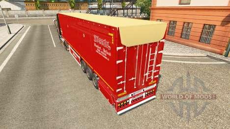 Semi-trailer tipper Bodex v2.0 for Euro Truck Simulator 2