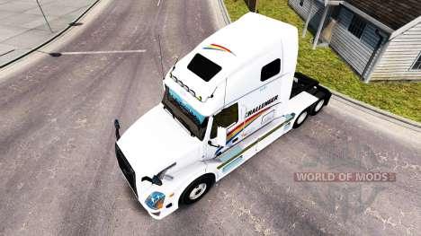 Skin on Challenger tractor Volvo VNL 670 for American Truck Simulator