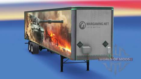 Skin World of Tanks on the trailer for American Truck Simulator