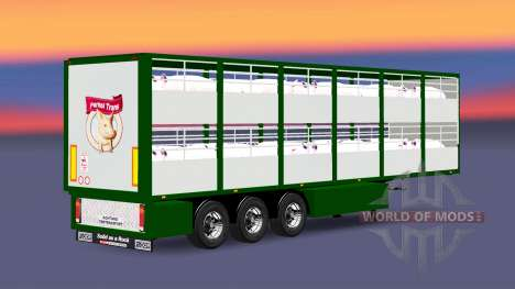 Semitrailer-cattle carrier Ferkel Trans for Euro Truck Simulator 2