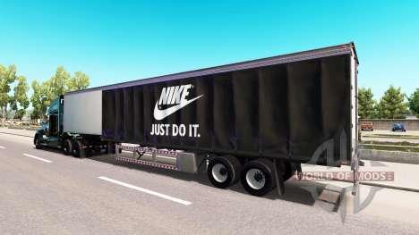 Skin Nike on the truck Kenworth for American Truck Simulator
