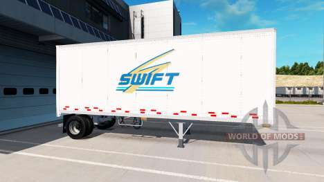 Uniaxial semi-trailer for American Truck Simulator