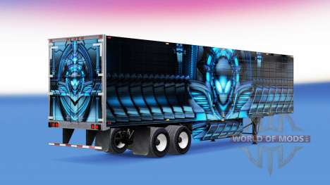 Skin Alienware by refrigerated semi-trailer for American Truck Simulator