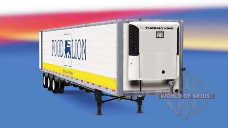 Refrigerated semi-trailer USA for American Truck Simulator