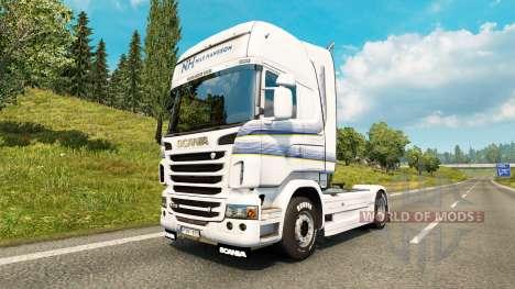 Nils Hansson skin for Scania truck for Euro Truck Simulator 2