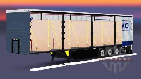 Curtain semi-trailer Schmitz Cargobull for Euro Truck Simulator 2