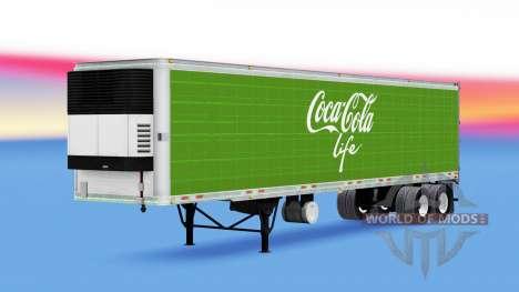 Refrigerated semi-trailer Coca-Cola Life for American Truck Simulator