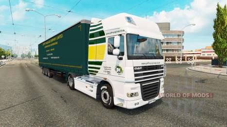 Jeffrys Haulage skin for tractors for Euro Truck Simulator 2