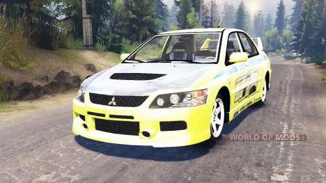 Mitsubishi Lancer Evolution IX [Форсаж 2] for Spin Tires