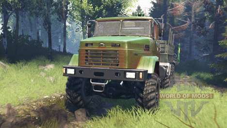 KrAZ-7140 v5.0 for Spin Tires