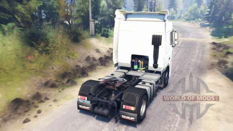 DAF XF105 for Spin Tires