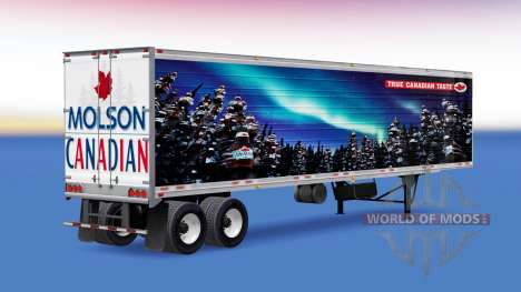 Skin of Molson Canadian on the trailer for American Truck Simulator
