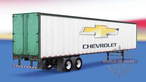 Skin Chevrolet on the trailer for American Truck Simulator