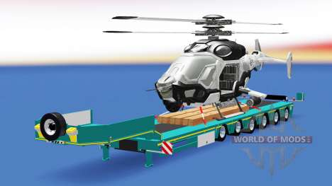 Low sweep with a cargo helicopter AH-50 C. E. L. for American Truck Simulator
