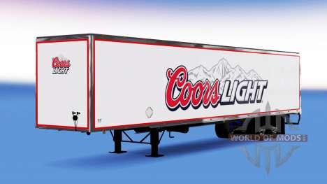 All-metal semi-Coors Light for American Truck Simulator