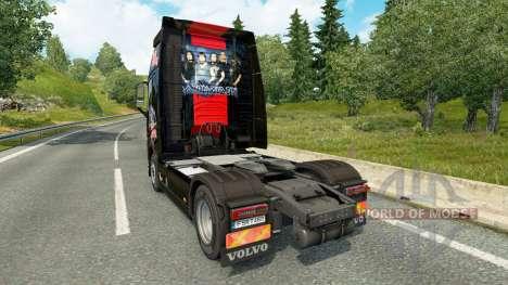 Iron Maiden skin for Volvo truck for Euro Truck Simulator 2